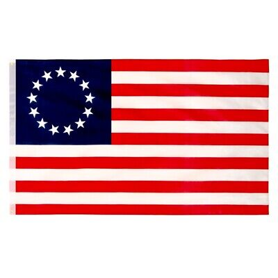3x5 FT Betsy Ross USA American 13 Star Flag Garden Home Decor#gwt
