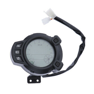 Universal Motorcycle Speedometer Instrument Dash Gauge Cluster Assembly
