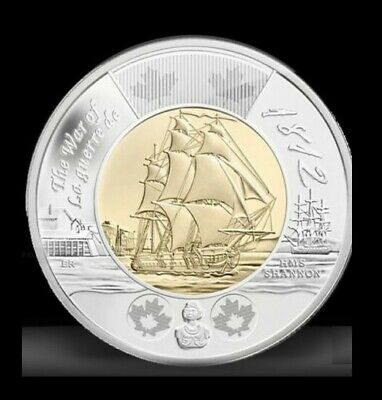 2012 Hms Shannon War Of 1812 Toonie