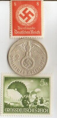 *rare-WW2 *german STAMPS+ SILVER EAGLE coins(.900%,625%)+*egyp.*king 'TUT' coin