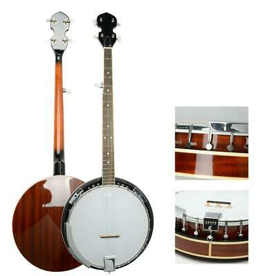 5 String Banjo with Closed Back 24 Brackets Head & Maple Neck
