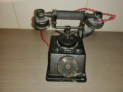 Antique Vintage Miniature 1947 brass telephone collectable