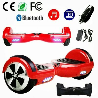 HOVERBOARD 6.5 POLLICI SMART BALANCE OVERBOARD PEDANA SCOOTER 2019 Rosso