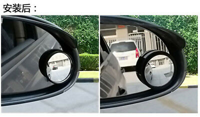 2X Car Accessories Rear View Blind Spot Mirror Adjustable Wide Angle Assist Part