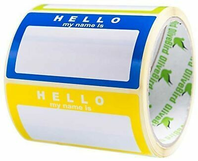 Name Tag Labels Hello My Name Is Stickers Assorted Colours (3 Colours) School