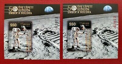 HUNGARY 2019 - Man landed on the Moon 50 years ago - MNH perf-imperf pair