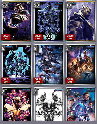 Topps Marvel Collect Card Trader Avengers Endgame Poster Set Mixed Lot of 4