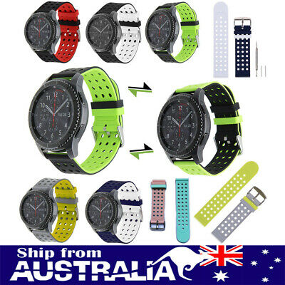 AU Silicone Watch Band Wrist Strap For Samsung Galaxy Gear S3 Classic Frontier x
