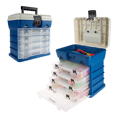 Storage Tool Box-Durable Organizer Utility Box-4 Drawers, 19 Compartments Each