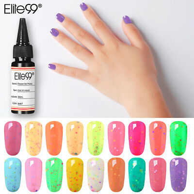 Elite99 Queso Esmaltes de Uñas Gel UV LED Semipermanente Manicura Pedicura 30ML