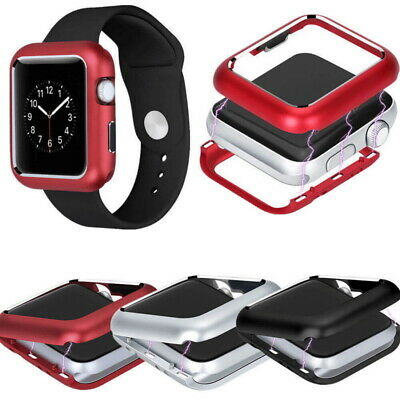 Metal Magnetic Watch Screen Bumper Protector Case Cover For Apple iWatch 4 3 2 1