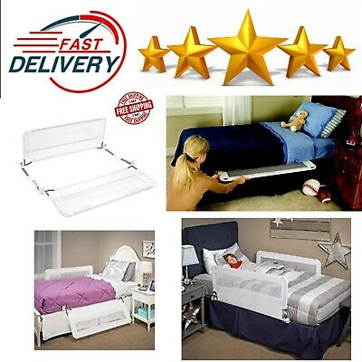 Bed Rail Guard Double Sided With Reinforced Anchor Child Safety System White