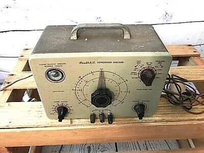 Heathkit C-3 Condenser Checker Capacitor Tester With Probes