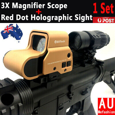 3X Magnifier Scope+558 Red Dot Holographic Sight Set For Gel Ball Blaster Toy