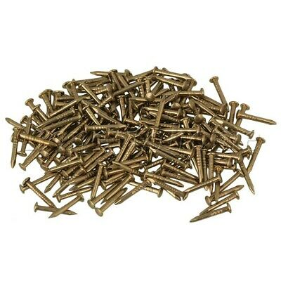 100pcs Antique Round Head Copper Nail Studs for Furniture Hinge 10mm L Brass