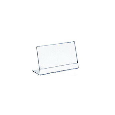 Horizontal Slanted, L-Shape Acrylic Sign Holder 7W x 5.5H Inches - Lot of 10
