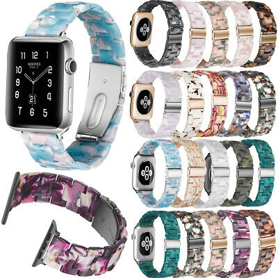 For Apple Watch Series 4/3/2/1 Replacement Band Resin Strap Butterfly Buckle
