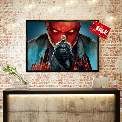 Canvas Art HD Print Oil Painting Batman Under The Red Hood Home Wall Decor 16x24