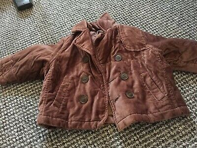 Baby boy Brown coat 6-9 months From Mothercare