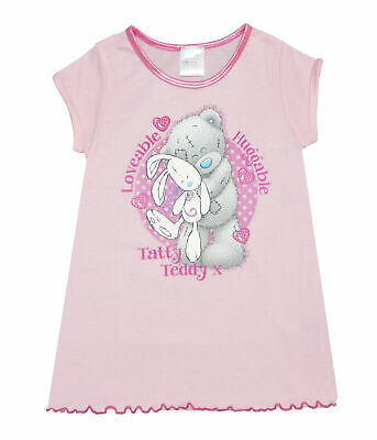 "GIRLS TATTY TEDDY ME TO YOU ""LOVEABLE & HUGGABLE"" NIGHTIE AGES 2-3 to 7-8 years"