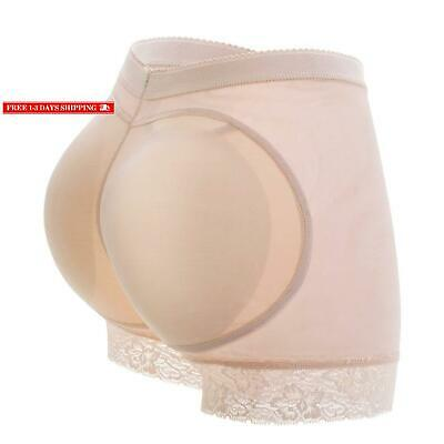 NEW WOMEN/'S FULL BUTT BOOSTER PADDED PANTY BRIEF SHAPER BEIGE #AS6776