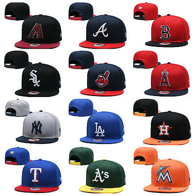 MLB Game 59FIFTY Fitted Cap Flat Brim Teams Adjustable Snapback Baseball Hat