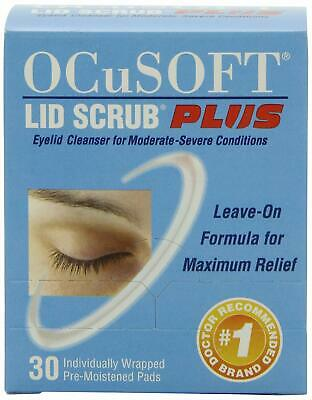 OCuSOFT Lid Scub PLUS, 30 Count Individual Wrapped Pads NEW-SEALED BOX EXP 12/21