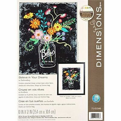 Dimensions Embroidery Kit D71-01546 Believe In Your Dreams