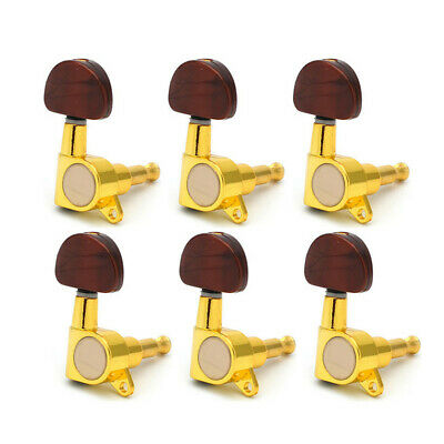 6 Pcs/set Guitar Tuning Pegs Metal Knob Enclosed  Tuners Machine Heads