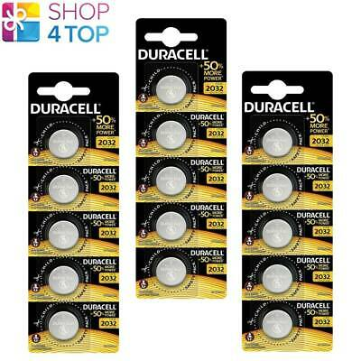 15 Duracell Cr2032 Lithium Batteries 3V Coin Cell Dl2032 Exp 2028 New