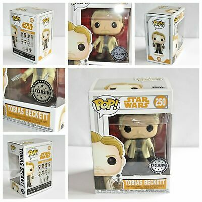 NEW Funko Pop SOLO A Star Wars Story Tobias Beckett (250) ,Duel Blaster Variant