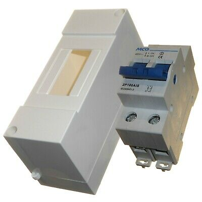 100 Amp Double Pole Isolator Switch with Enclosure Plastic Compact Isolating