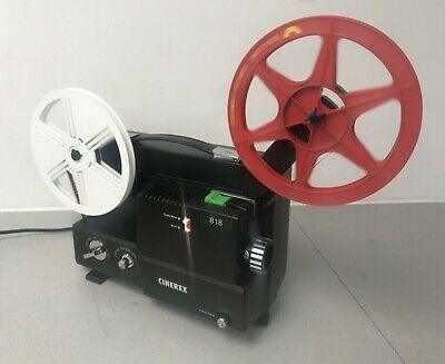 CINEREX 818 DUAL VARIABLE SPEED SUPER 8  8mm CINE MOVIE FILM PROJECTOR