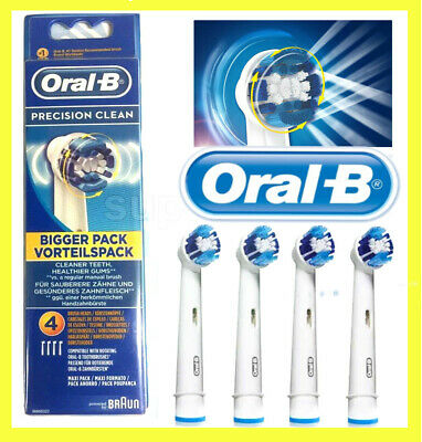 Precision Clean  Oral-B Braun Sealed Toothbrush Replacement Heads 4 Pack - Uk