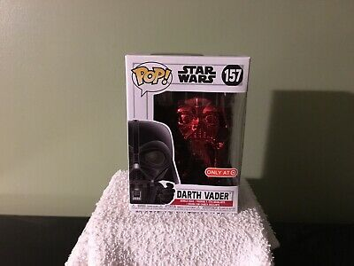 """Funko Pop! Star Wars """"Darth Vader"""" #157 Target REDcard Exclusive (Red Chrome)"""