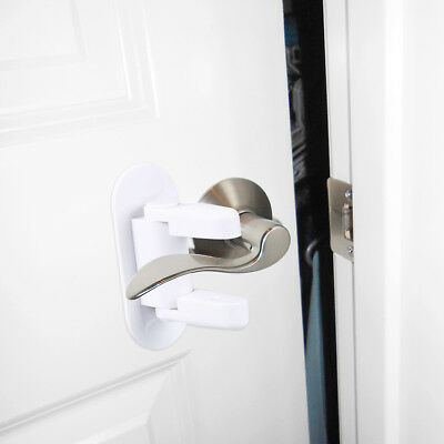Door Lever Lock (2 Pack) Child Proof Doors & Handles 3M Adhesive - Child Safety