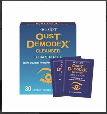 Oust Demodex Extra Strength Cleanser Pre-Moistened Individual Wrapped Pads 30 ct