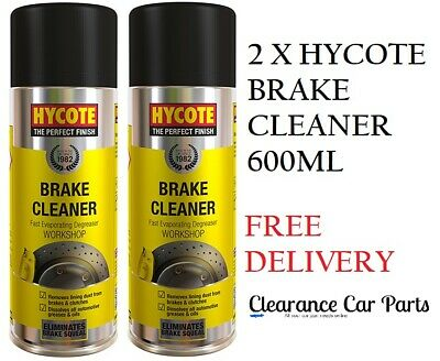 2 X Hycote Brake Cleaner For Many Applications Clutch Disc Plates 600ml Quality