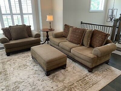 Amazing Bernhardt Sofa With Nail Head Trim And Two Soft Down Caraccident5 Cool Chair Designs And Ideas Caraccident5Info