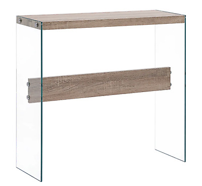 Glass Console Table Modern Side Furniture Small End Hallway Contemporary Hall