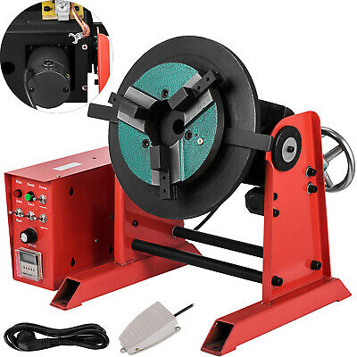 30KG Rotary Welding Positioner Turntable Timing 200mm Chuck Foot Switch 110/220V