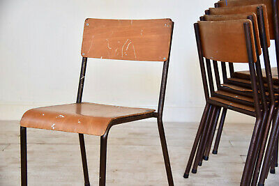 Vintage Plywood Industrial Stacking Chairs 1960's School Chairs CAN DELIVER