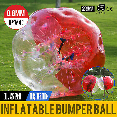 1.5M Body Inflatable Bumper Football Zorb Ball Human Bubble Soccer Ball Red US