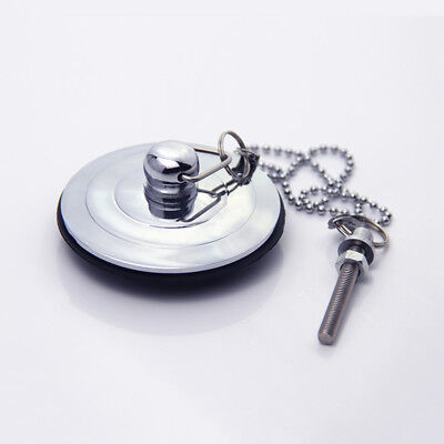 Silver/Gold/Antique Bath Plug with Chain 40-60mm Bathtub Basin Sink Drain Parts