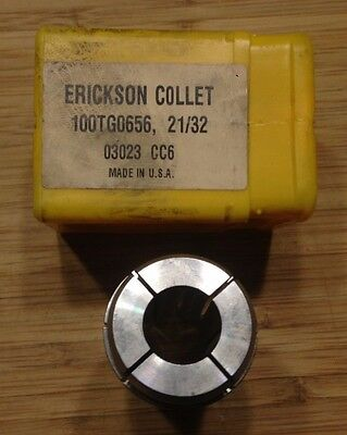 "Kennametal Erickson 100TG0656 21/32"" Single Angle Collet"