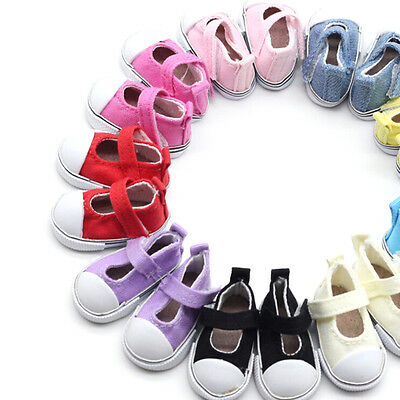 5cm Doll Shoes Canvas Mini Toy Shoes1/6  For Russian  Doll SneackeFHFA