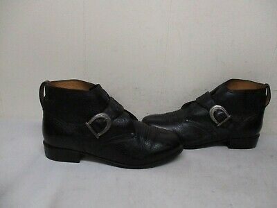 d208e83b771 ARIAT Black Leather Buckle Monk Strap Ankle Boots Womens Size 8.5 Style  16310