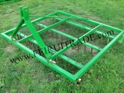 Aerator Equstrian Drag Harrow Spike Tine 3 Point Linkage Hitch Farm Field 6 Ft.