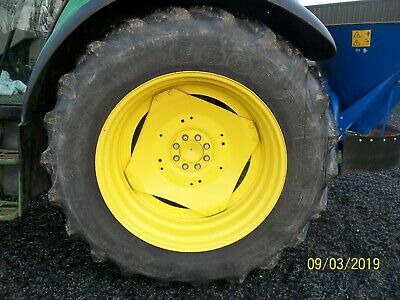 4 Good Year Super Traction Radial Tyres. 14.9 R 24 front & 16.9 R 38 rear No VAT