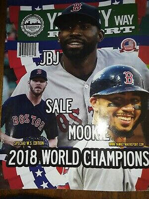 RED SOX YAWKEY WAY 2019 OPENING DAY PROGRAM with World Series Pin